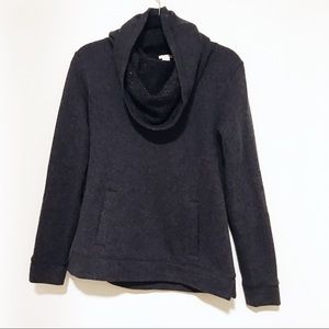 🌿 • J. Crew Charcoal Cowl Neck Sweater •